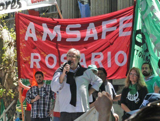 El secretario general de Amsafé Rosario