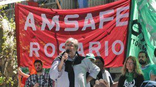 El secretario general de Amsafé Rosario, Gustavo Terés, convocó para la marcha de mañana en la Plaza San Martín.