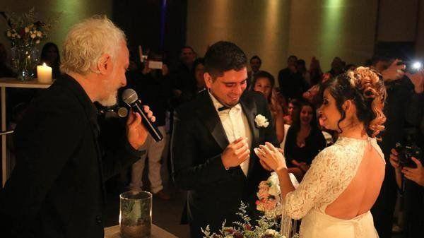 Diego y Daniela dieron el si ante la mirada de Andy Kusnetzoff