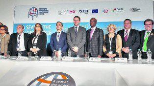 Encuentro destacado. Fein estuvo junto a referentes de más de 40 ciudades de Iberoamérica.