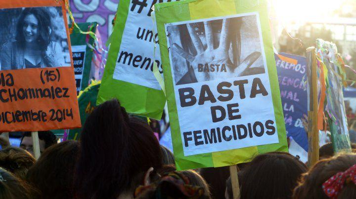 Ni una menos. Una gran cantidad de organizaciones sociales y políticas convocaron a la protesta.