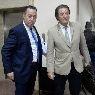 Los abogados defensores Varela y Beduré. Ayer hicieron sus descargos los once acusados y todos se declararon inocentes.