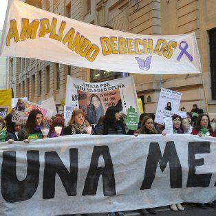 La marcha en reclamo por el fin de los femicidios.