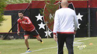 Equilibrio. Nacho realizó tareas propioceptivas y otros movimientos para recuperarse de la lesión.
