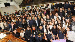 Más de 250 alumnos participaron hoy delIV Foro sobre Prevención de la Violencia y el Acoso Escolar en el Concejo Municipal.