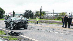 Mortal. El mal tiempo contribuyó ayer a la tragedia ocurrida en Alvear.