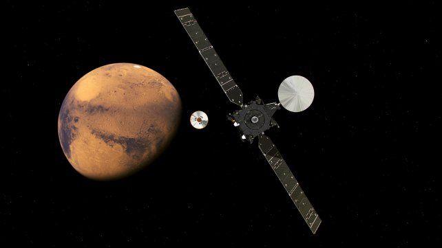 Misión a Marte: El módulo Schiaparelli entró en órbita pero se perdió antes de tocar la superficie