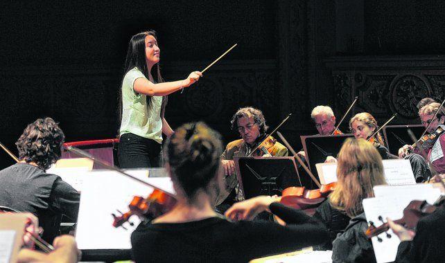 Felicidad pura. Priscilla Rios forma parte de una Orquesta de la zona noroeste y pudo dirigir el cuarto acto de la ópera Carmen