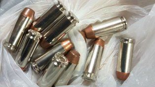Las municiones incautadas esta mañana.