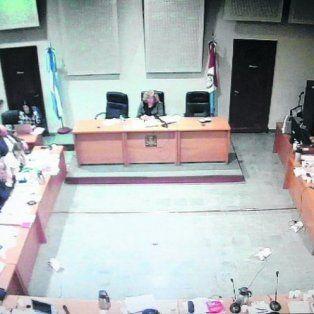 La jueza Lamperti, presidiendo la audiencia imputativa que se realizó el miércoles.