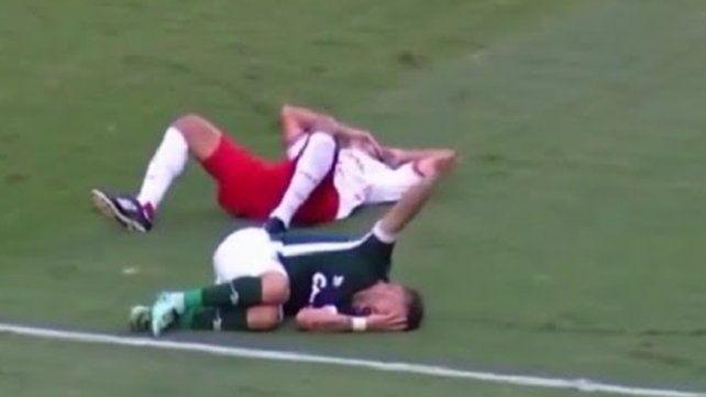 La simulación más patética en el fútbol de Brasil