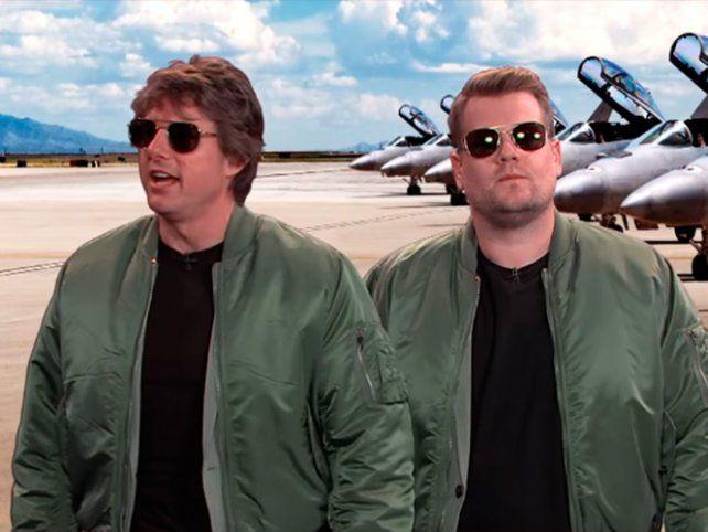 Tom Cruise recreó sus películas más taquilleras con James Corden en The Late Late Show