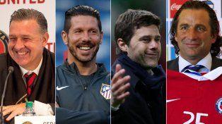 Martino, Simeone, Pochettino y Pizzi sueñan con coronarse como mejor DT del año.