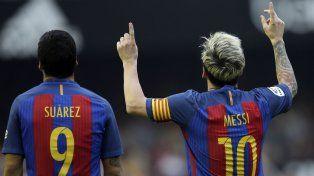 Messi y Suárez, la delantera demoledora.