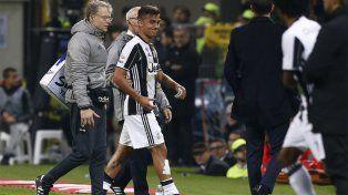Dybala fue reemplazado en el primer tiempo y está en duda para el seleccionado argentino.