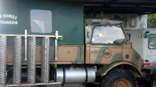 El vehículo. El Unimog fue comprado con un subsidio a aborígenes.