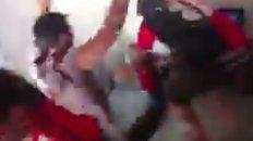 El video del festejo del gol de Maxi Rodríguez se volvió viral en las redes sociales.