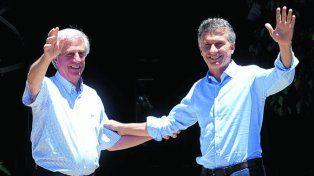 En sintonía. Tabaré y Macri ya se habían reunido en enero pasado.