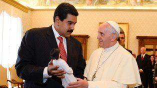 Reunión. Imagen de la audiencia de Maduro con el Papa el 17 de junio de 2013. Ayer no hubo fotos oficiales.