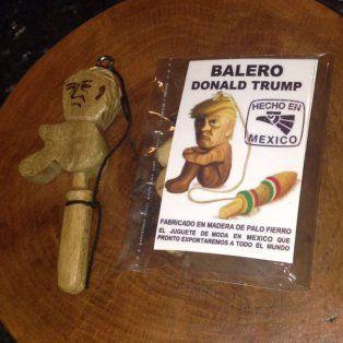 venden un curioso balero con la cara de trump en rechazo al muro entre mexico y estados unidos