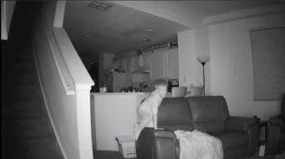 Una cámara de video con visión nocturna permitió descubrir al pequeño demonio que no dejaba dormir a una familia.