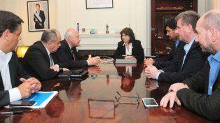 El gobernador Miguel Lifschitz y la ministra de Seguridad Patricia Bullrich se reunión hoy en Buenos Aires.