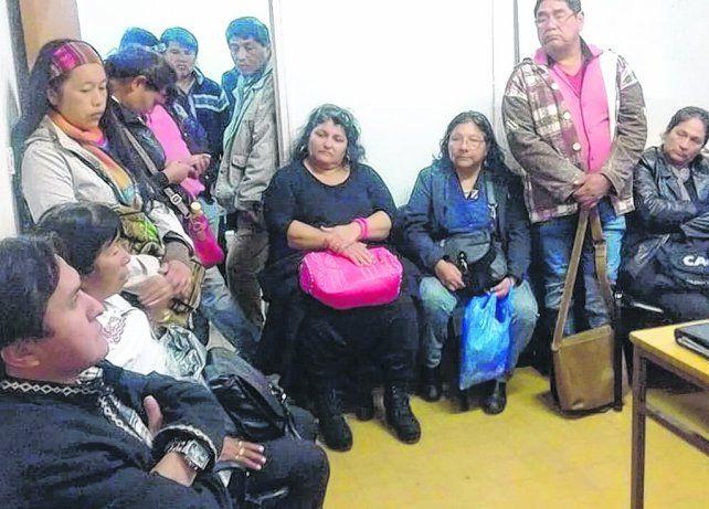Protesta. Convocados en el cuarto piso de Buenos Aires 711