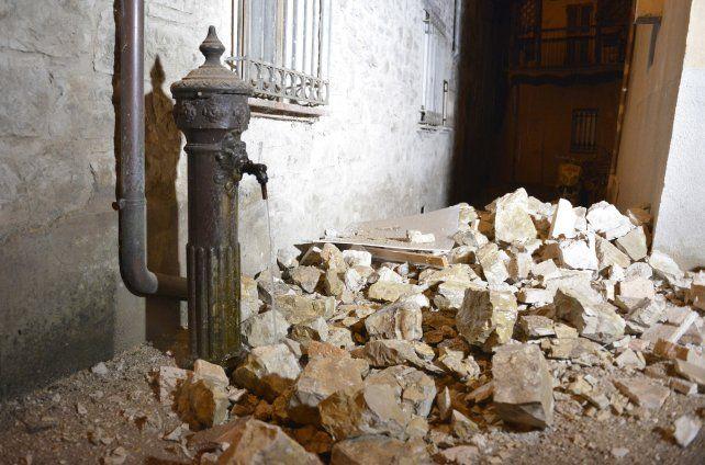 Derrumbes. Una de las zonas más afectadas era Castelsantangelo sul Nera.