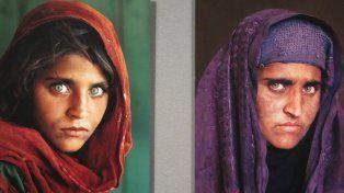 Ayer y hoy. Sharbat Gula en 1985 en la famosa imagen y en años recientes.