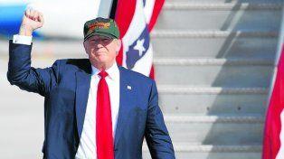 Buscando el voto. El republicano llega a Orlando para hacer campaña.