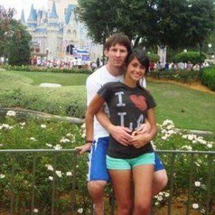 Antonella y Lionel viajaron en 2009 a DisneyWorld en Orlando.