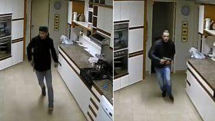 Los delincuentes quedaron registrados por las cámaras de seguridad.