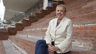 La profesora María Cristina Cortés enseñó por casi 40 años en el Isef Nº 11.