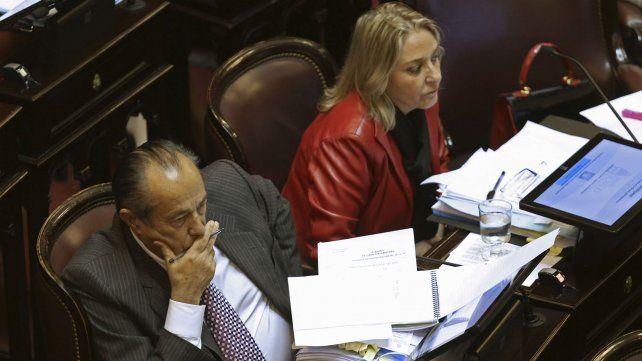 La senadora junto a Adolfo Rodríguez Saa
