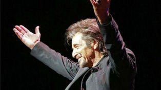 Al Pacino en el Colón. Fue sur primera presentación en Argentina.