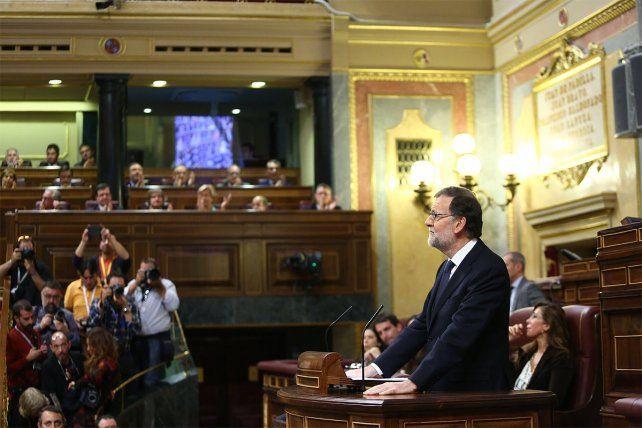 Rajoy fue investido presidente en el Congreso de los Diputados con170 votos a favor.