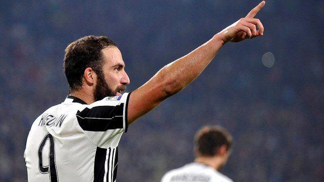 Higuaín convirtió el gol de triunfo de Juventus frente a Napoli