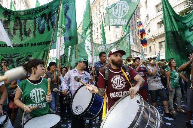 Protesta y movilización. Los trabajadores nucleados en ATE realizarán un paro nacional el 10 de noviembre.