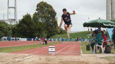 Gran salto. El atletismo tuvo una participación destacada.
