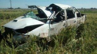 En Las Rosas. La Toyota en la que fallecieron los jóvenes de San Genaro.