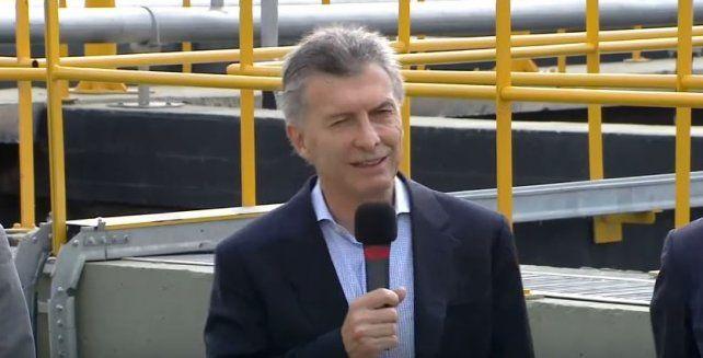 Macri inauguró obras en Marcos Paz.