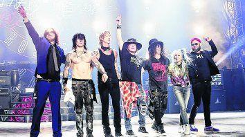 Todos juntos. Rosario será la primera parada de la gira argentina de los Guns. Después tocarán en Buenos Aires.
