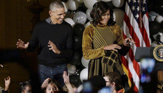 Obama y su esposa bailaron Thriller en el Día de Brujas