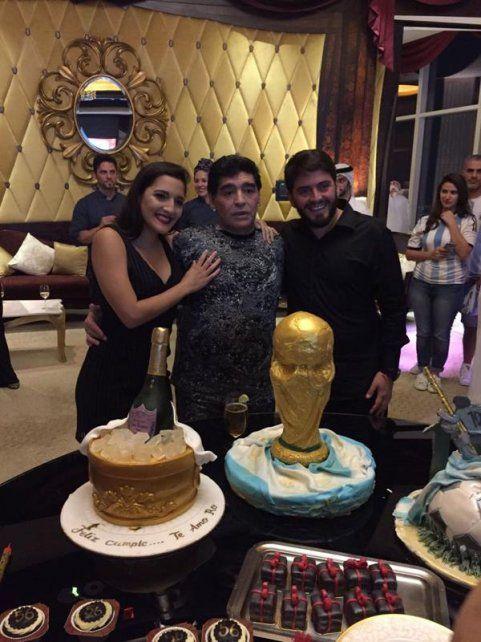 Fotos y detalles de la fiesta de Maradona en Abu Dhabi que siguió hasta las 7 de la mañana