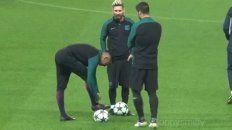 neymar se le planto a luis suarez por una broma en pleno entrenamiento del barca