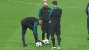 Neymar se le plantó a Luis Suárez por una broma en pleno entrenamiento del Barça
