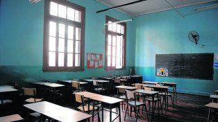 Aulas vacías. Se viene un fin de año complicado para el dictado de clases.