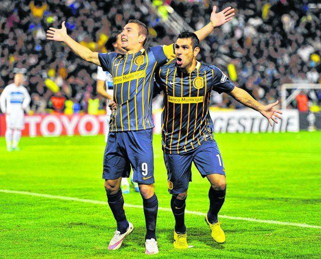 Qué dupla. Marco Ruben y Germán Herrera serían los atacantes para enfrentar a Boca.