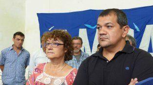 Sonia Alesso (Amsafé) y Martín Lucero (Sadop Rosario).