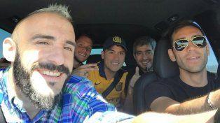 Ningún jugador de Central se quiso perder el partido y viajaron a Córdoba para apoyar a sus compañeros